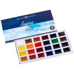 Sada akvarelových barev 24 kusů Nevskaya Palitra