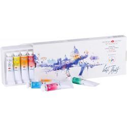 Akvarelové umělecké barvy sada 12x10 ml v tubách White Nights Nevskaya Palitra