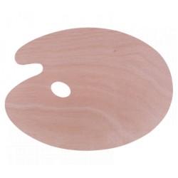 Malířská paleta dřevěná průměr 39,5 cm oválná