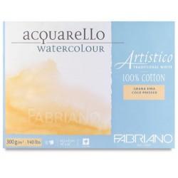 Blok na akvarel 10 listů 45,5 x 61 cm 100 % bavlna 300g/² Cold Pressed Artistico Fabriano