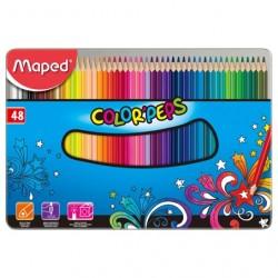 Pastelky sada 48 kusů v kovové kazetě Maped