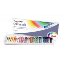 Pastely umělecké olejové sada 25 kusů Pentel