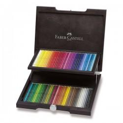 Pastelky umělecké Polychromos 72 kusů v dřevěné kazetě Faber Castell