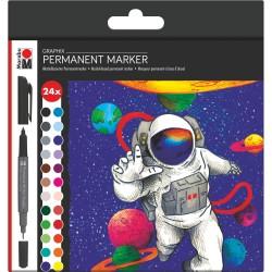 Permanent Marker Graphix sada 24 kusů Marabu