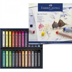 Pastely umělecké prašné sada 24 kusů Faber Castell