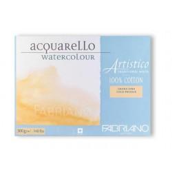 Blok na akvarel 25 listů 12,5 x 18cm 100 % bavlna 300g/² Cold Pressed Artistico Fabriano