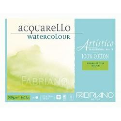 Blok na akvarel 100 % bavlna 300g/² 25 listů 12,5 x 18 cm Fabriano Artistico Rough