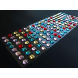 Samolepící kamínky barevné 144 kusů 1 cm