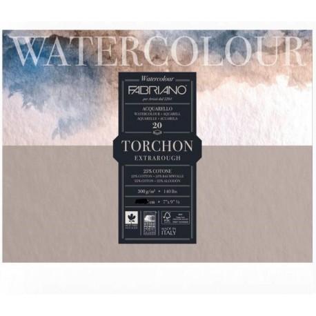 Blok na akvarel 20 listů 300g/m² 30,5 x 45,5 cm Torchon Fabriano