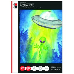 Blok na akvarel A4 20 listů 220g/m² Aqua pad Graphix Marabu