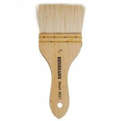 Štětec široký blendovací série 8021 velikost přírodní kozí vlas Renesans
