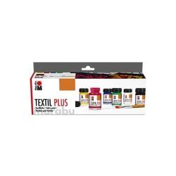 Barvy na textil Textil Plus sada 6 kusů Marabu
