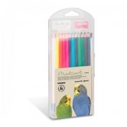 Akvarelové pastelky tuha 3,3 mm sada 24 kusů ořezávátko + štětec + pryž Primo