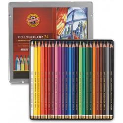Pastelky umělecké Polycolor sada 24 kusů v kovové krabičce KOH-I-NOOR