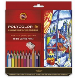 Pastelky umělecké Polycolor sada 36 kusů v papírové krabičce KOH-I-NOOR