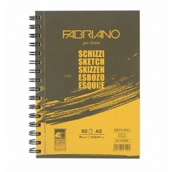Skicák 60 listů 90g/m² kroužková vazba Schizzi Fabriano