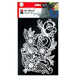 Šablona Květinový ornament 27x20 cm Marabu