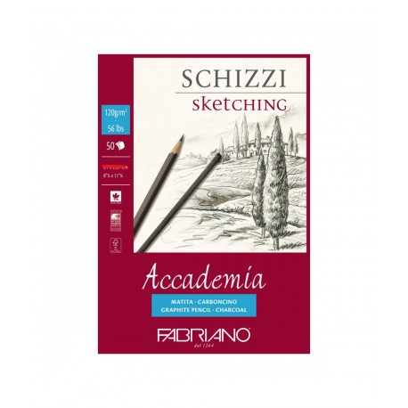 Skicák A2 120g/m² 50 listů Accademia Fabriano