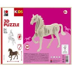 3D Puzzle Koník 18x16 cm Marabu