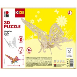 3D Puzzle Motýlek 26x19 cm Marabu