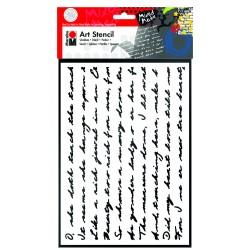 Šablona plastová Písmo scénář A4 Marabu 29,5x21 cm