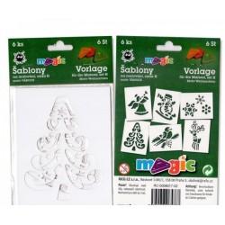 Šablony papírové Vánoce sada 6 kusů
