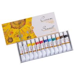 Umělecké olejové barvy sada 12x10 ml, Sonet