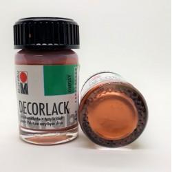 Decorlack lesklá metalická akrylová barva měděná 15 ml Marabu