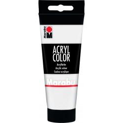 Akrylová barva bílá 100 ml Marabu