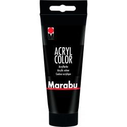 Akrylová barva černá 100 ml Marabu