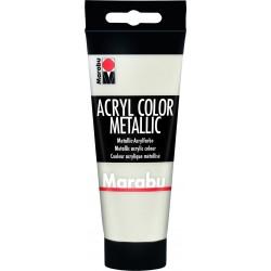 Akrylová barva bílá metalická 100ml Marabu