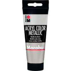 Akrylová barva stříbrná 100ml Marabu