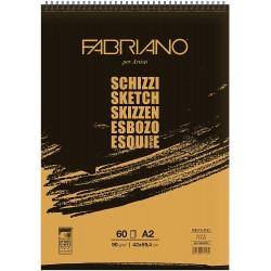Skicák A2 60 listů 90 g/m² kroužková vazba Schizzi Fabriano