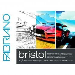 Blok multifunkční A4 20 listů 250g/m² Bristol Fabriano