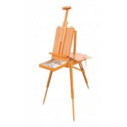 Malířský stojan s kufříkem plenérový bukové dřevo