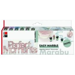Easy Marble sada pastelové odstíny 6x15 ml Marabu