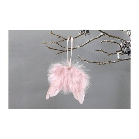 Andělská křídla starorůžová na zavěšení šířka 8 cm