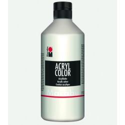 Akrylová barva bílá 500 ml Marabu