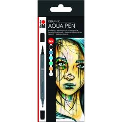 Aqua pen sada Metropolitan 6 kusů Marabu