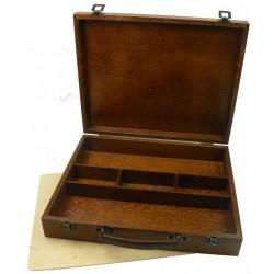 Luxusní dřevěný kufřík na barvy 36x28,5x7cm