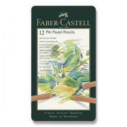 Pastely umělecké Pitt Pastel v kovové kazetě sada 12 kusů Faber Castell