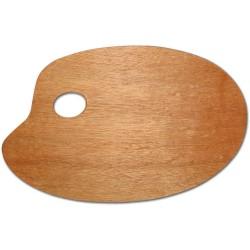 Paleta dřevěná oválná 20x30 cm