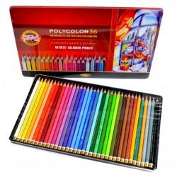 Pastelky umělecké Polycolor sada 36 kusů v kovové kazetě KOH-I-NOOR
