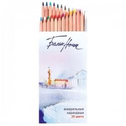 Akvarelové umělecké pastelky sada 24 kusů v papírové krabičce White Nights Nevskaya Palitra