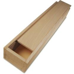 Penál dřevěný na štětce 33x7x5cm