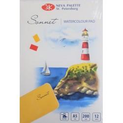 Blok na akvarel A5 12 listů 200g/m² Sonnet Nevskaya Palitra