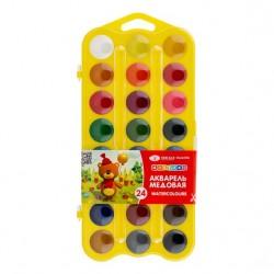 Medové vodové barvy dětské sada 24 kusů Nevskaya Palitra žlutá kazeta