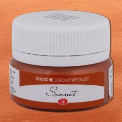 Kvašová barva metalická Měděná 20 ml Sonnet Nevskaya Palitra
