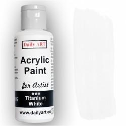 Akrylová umělecká barva Běloba titanová 50 ml Daily ART