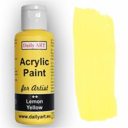 Akrylová umělecká barva Citronově žlutá 50 ml Daily ART